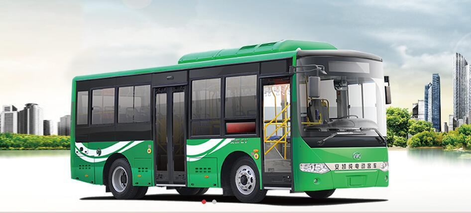 安凯纯电动公交车即将驶入黄山